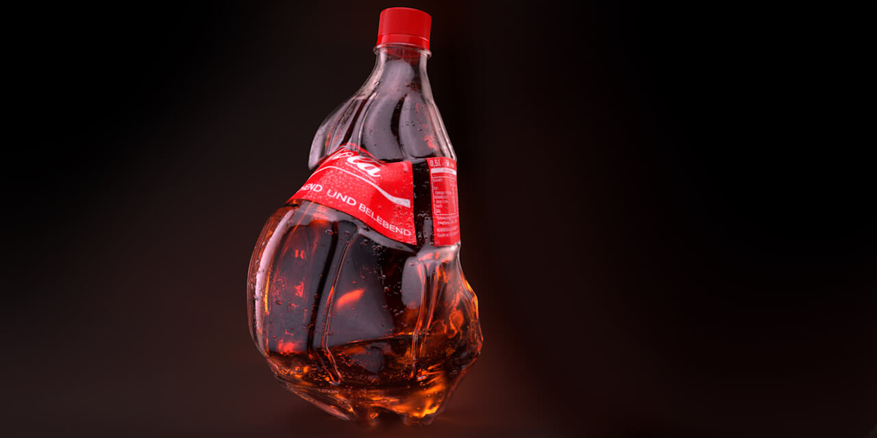 cola, coke, coca, bottle, product, 3d, still, drink, beverage
