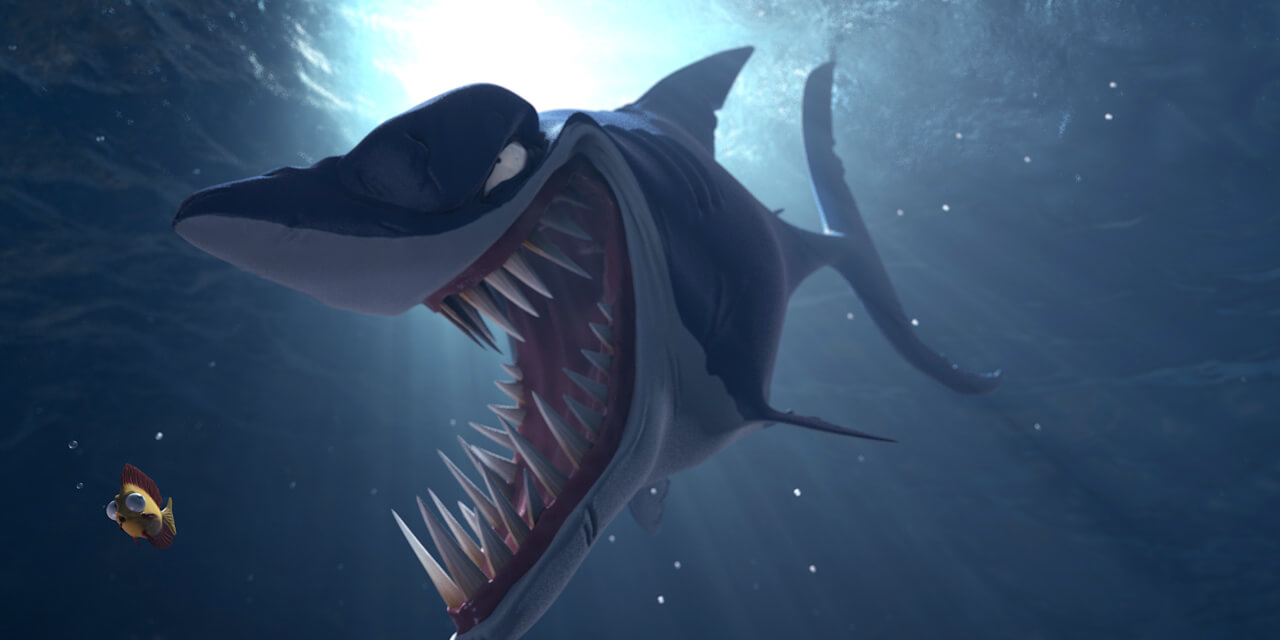 shark, teeth, fish, ocean, water, underwater, sea, diving, monster, 3d