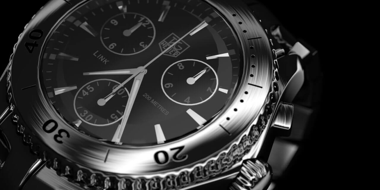 watch, tag heuer, chronograph, time, product, technic, macro, 3d