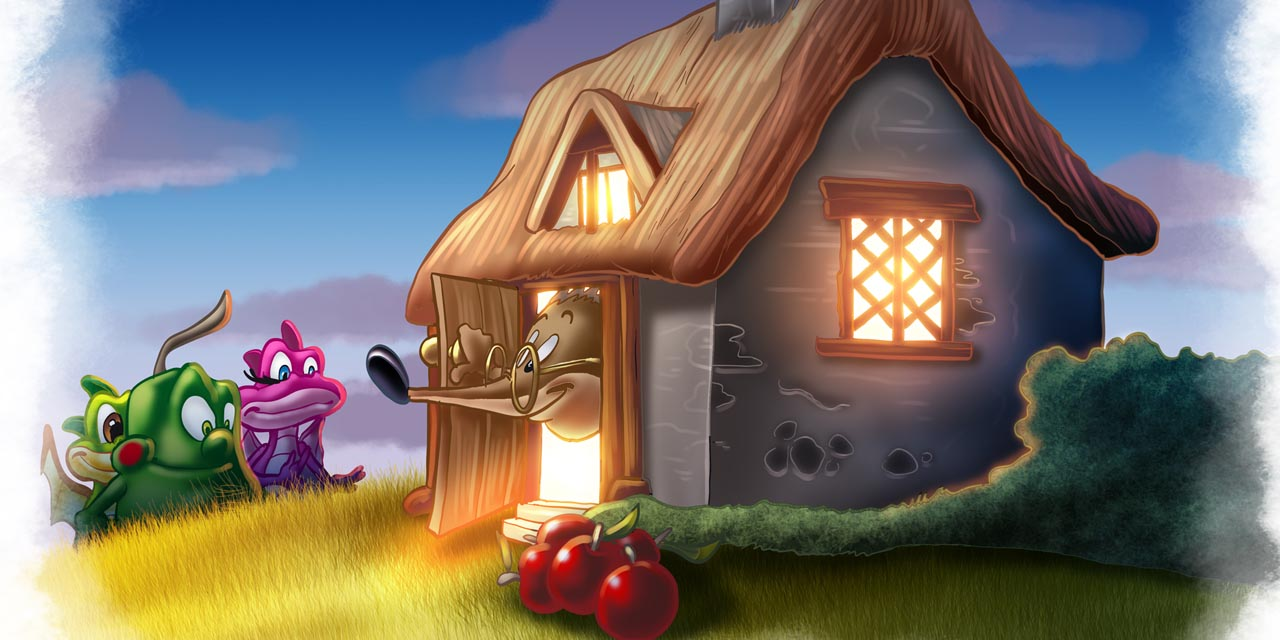 blubi, bella, dragon, kids book, childrens, book, hedgehog, house, evening, sunset