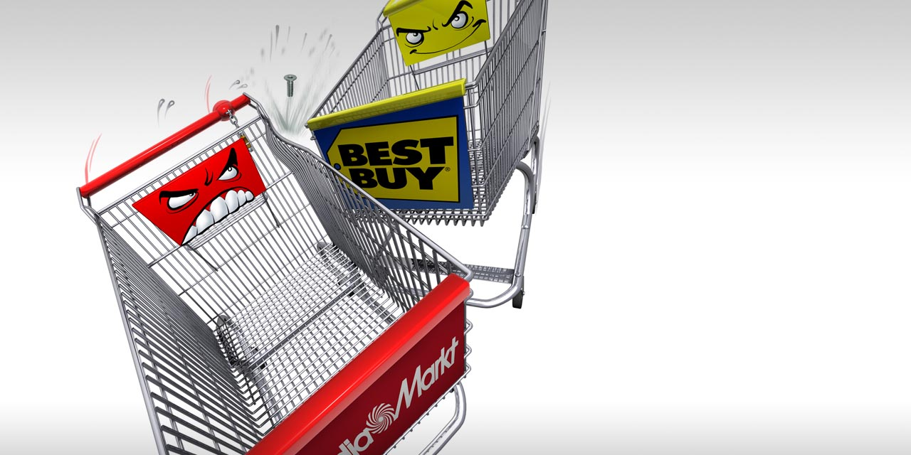 Gruner, jahr, cart, shopping, media markt, best buy, fight, collision, accident