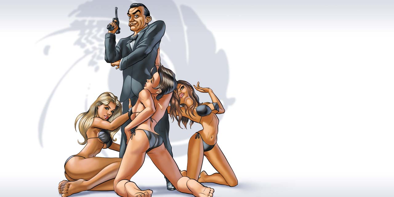 james, bond, sean, connery, pin-up, pin, up, pinup, gun, pistol