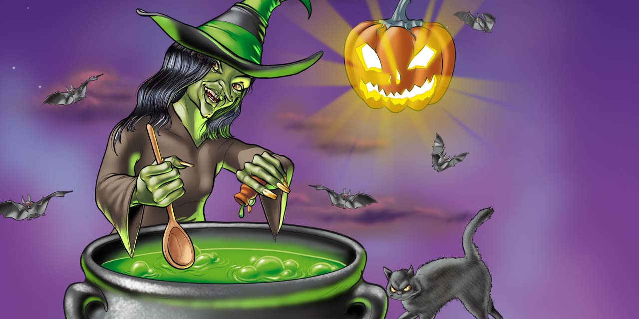 lidl, halloween, witch, cauldron, pumpkin, cat, bat, animal, animals, night